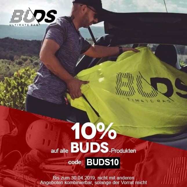 BUDS -10 sur tout