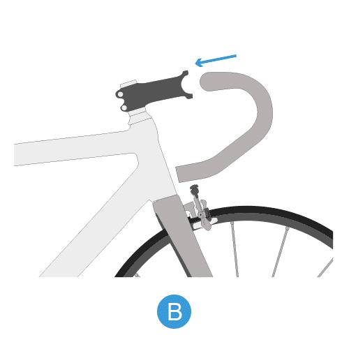monter votre cintre de vélo de route étape 2