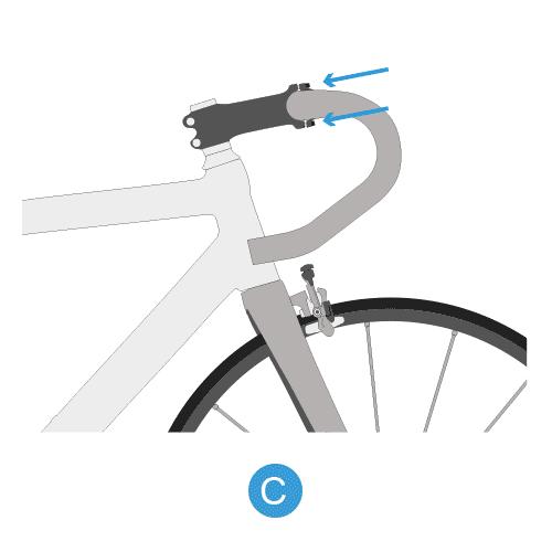 monter votre cintre de vélo de route étape 3