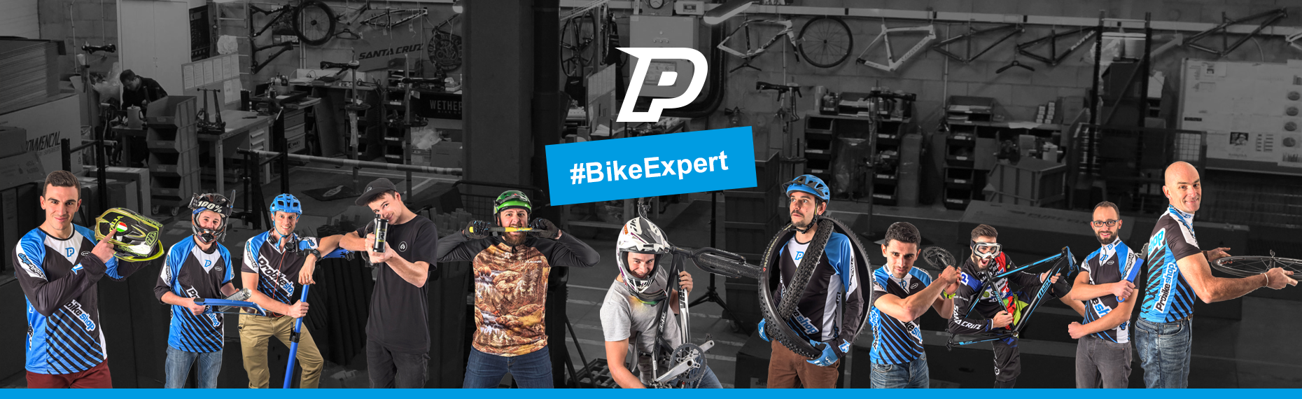 Photomontage Experts techniques vélo Probikeshop
