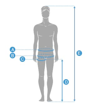 Schema-sizing_Homme_ABCDE_taille-hanche-entrejambe-hauteur
