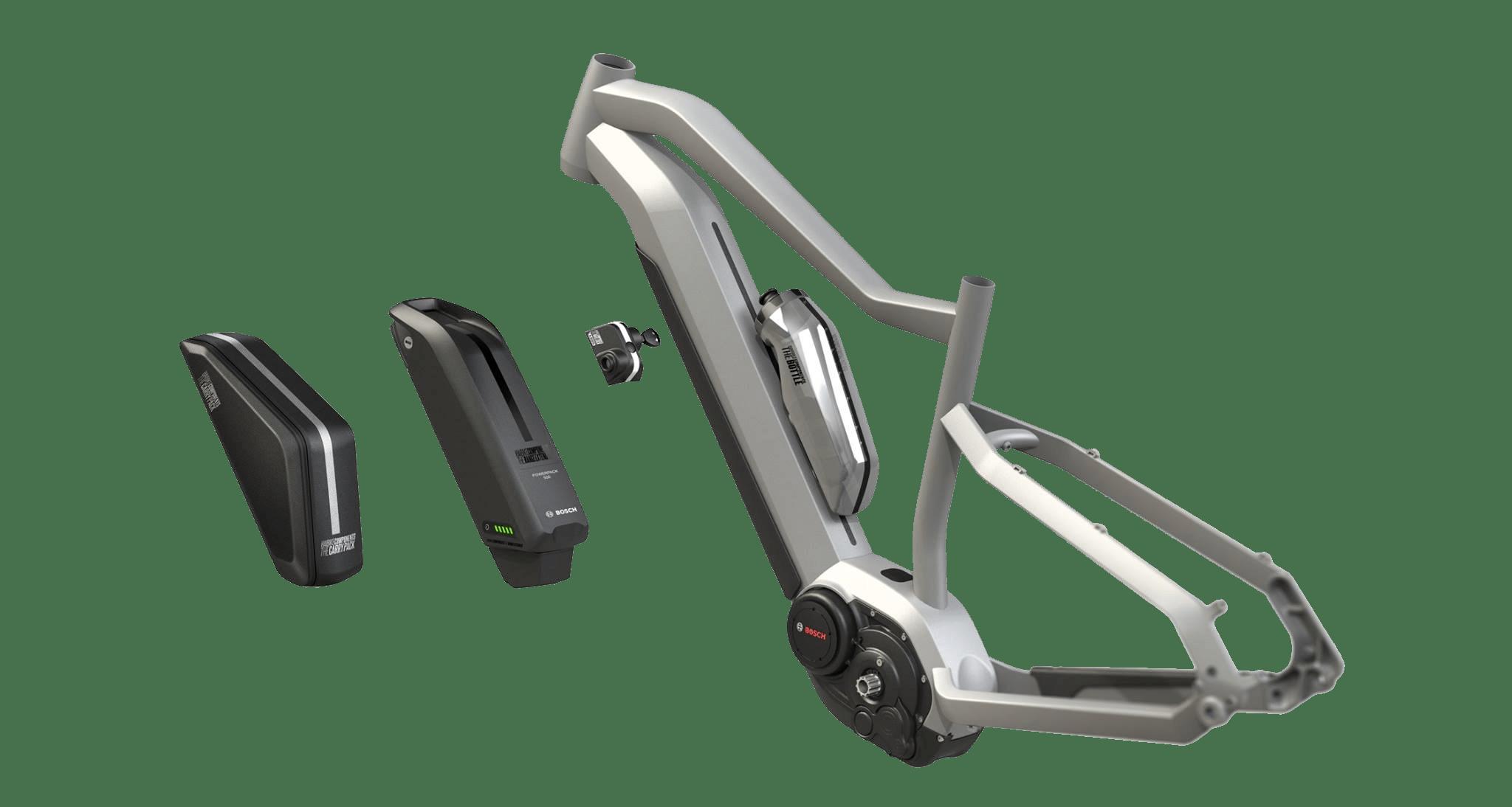 HAIBIKE Système de rail modulaire / Concept InTube Battery