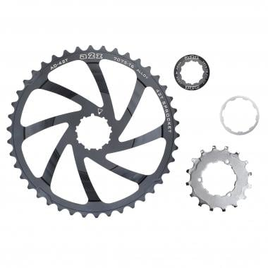 Kit de Conversion 40/42 Dents A2Z pour Cassette 10V Shimano Noir