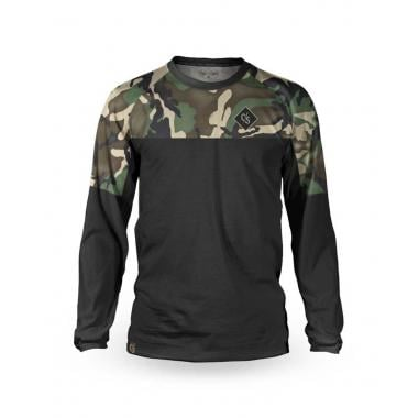 Maillot LOOSE RIDERS TUNDRA FOREST Manches Longues Noir/Kaki Camo 2021