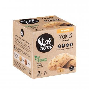 Pack de 5 Cookies Protéinés STAY'ACTIV Éclats de Caramel au Beurre Salé