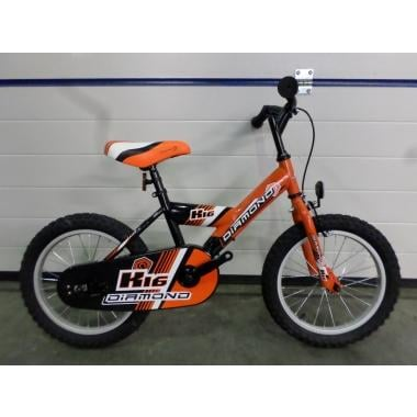 CDA - Vélo Enfant DIAMOND K16 Noir/Orange 16""