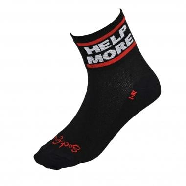 Chaussettes SOCK GUY GIVE MORE DO MORE Noir/Rouge