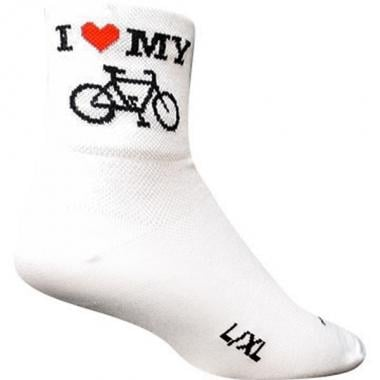 Chaussettes SOCK GUY HEART MY BIKE Blanc