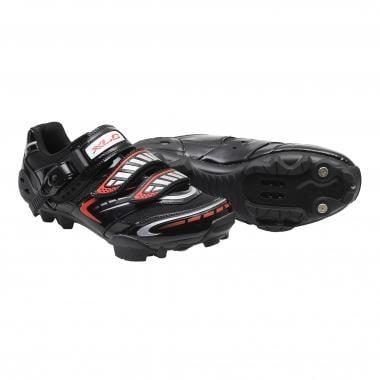 Sapatos de BTT XLC EVO X1 Preto/Prata/Vermelho