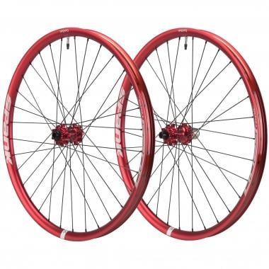 """Par de ruedas SPANK OOZY TRAIL345 27,5"""" Eje delantero 15/20 mm - Trasero 9x135/12x142 mm Rojo"""