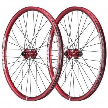 """Par de ruedas SPANK SPOON32 27,5"""" Eje delantero 15/20 mm - Trasero 12x135 mm Rojo"""