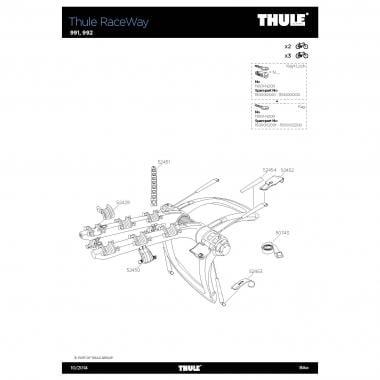 Crochet de Fixation THULE Haut pour Porte-Vélos RACEWAY 52452