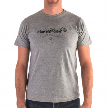 T-Shirt PROBIKESHOP CYCLE Cinzento