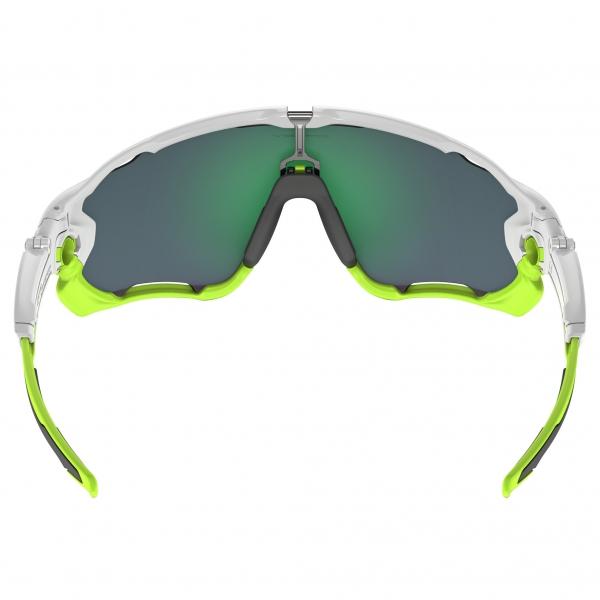 Gafas Oakley Jawbreaker Iridium Lentes Blanco Verde Jade