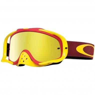 OAKLEY CROWBAR MX Goggles Yellow/Red 24K Iridium & Clear Lenses 2016