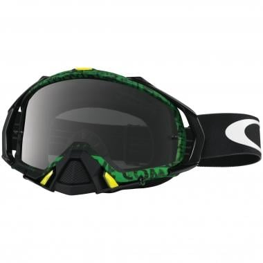 OAKLEY MAYHEM PRO MX Goggles Black/Green Dark Grey Lens 2016