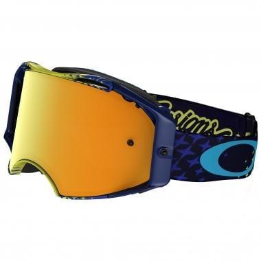Gafas máscara OAKLEY AIRBRAKE MX TROY LEE DESIGNS STARBUST Amarillo/Azul Lente 24K Iridium