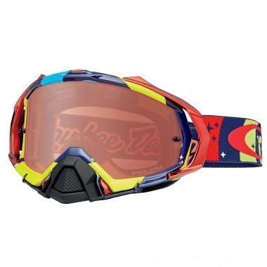 Masque OAKLEY MAYHEM PRO MX TRO LEE DESIGNS PHANTOM Rouge/Jaune Écran Prizm Bronze 2016