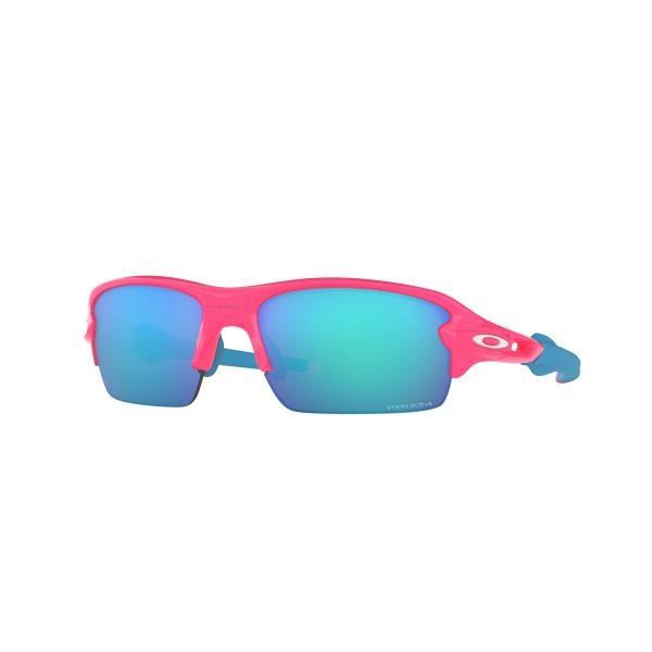 Óculos OAKLEY FLAK XS Rosa Azul Prizm OJ9005-0359 2018 - Probikeshop 8234d5d1dcc