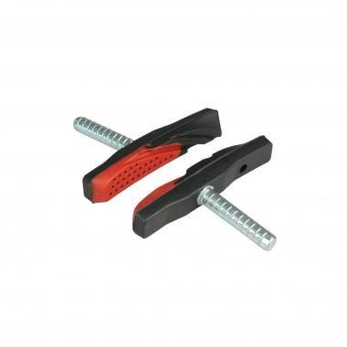 Par de zapatas de freno con varilla ALLIGATOR V-BRAKE Negro/Rojo