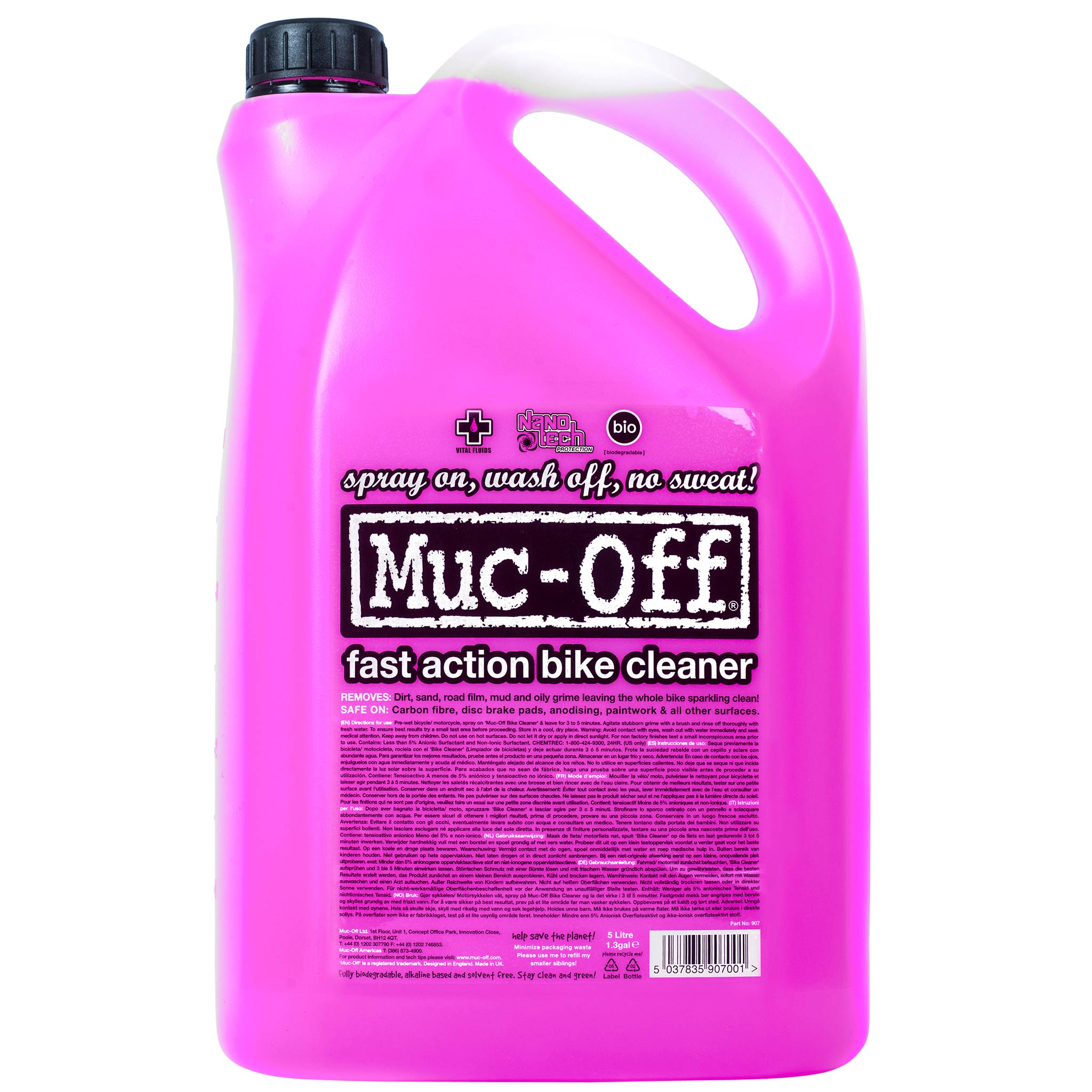 Detergente para bicicleta MUC-OFF BIKE CLEANER (5 L)