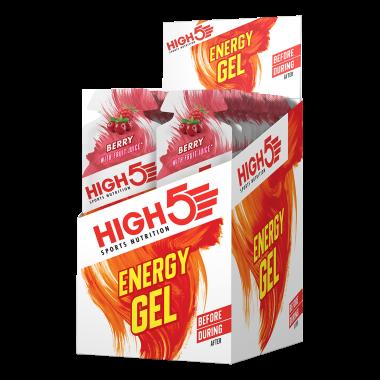 Pack de 20 Gels Énergétiques HIGH5 ENERGY GEL Sans Gluten (40 g)