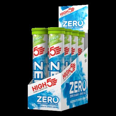Pack de 8 Boissons Anticrampe HIGH5 ZERO (Tube de 20 Pastilles)