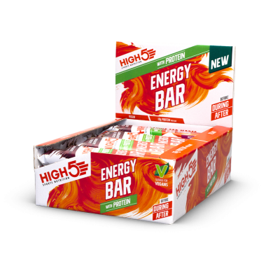 Pack de 12 Barres Energétiques HIGH5 ENERGY BAR Cacao Framboise (50g)