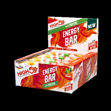 Pack de 12 Barres Energétiques HIGH5 ENERGY BAR Cacahuète Banane (50g)