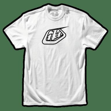 T-Shirt TROY LEE DESIGNS LOGO Blanc/Noir