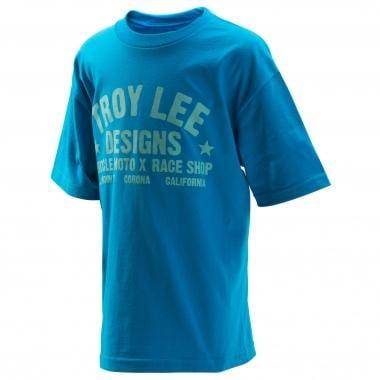 T-Shirt TROY LEE DESIGNS RACESHOP Junior Turquoise 2016