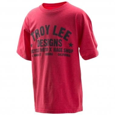 T-Shirt TROY LEE DESIGNS RACESHOP Junior Rouge 2016