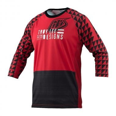 Maillot TROY LEE DESIGNS RUCKUS FORMATION Mangas 3/4 Rojo 2016