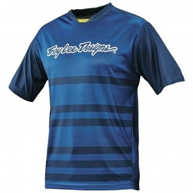 Maillot TROY LEE DESIGNS SKYLINE DIVIDED Mangas cortas Azul