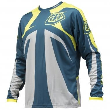 Maillot TROY LEE DESIGNS SPRINT REFLEX Manches Longues Bleu