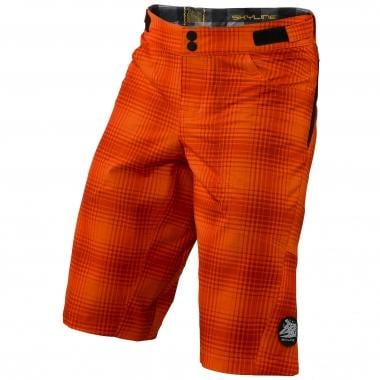 Pantaloni Corti TROY LEE DESIGNS SKYLINE PLAID Bambino Arancione