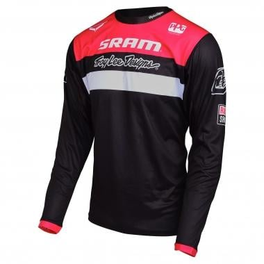 Jersey TROY LEE DESIGNS SPRINT SRAM RACING Manga Comprida Preto/Vermelho 2017
