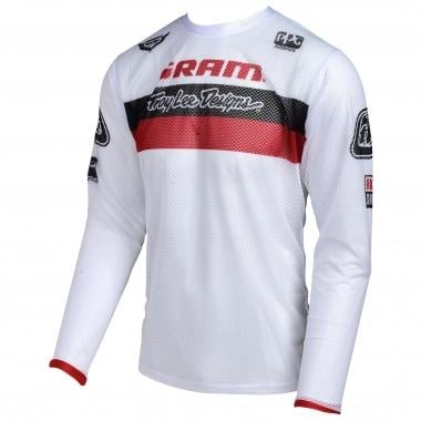 Maillot TROY LEE DESIGNS SPRINT AIR SRAM Manches Longues Blanc/Rouge 2017