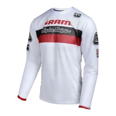 Maillot TROY LEE DESIGNS SPRINT AIR SRAM RACING Enfant Manches Longues Blanc 2017