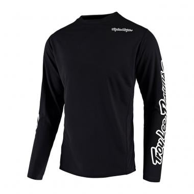 Maillot TROY LEE DESIGNS SPRINT SOLID Mangas largas Negro