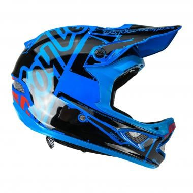 Casque TROY LEE DESIGNS D3 FIBERLITE FACTORY Bleu
