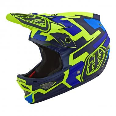 Casque VTT TROY LEE DESIGNS  D3 FIBERLITE SPEEDCODE Jaune/Bleu