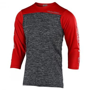 Maillot TROY LEE DESIGNS RUCKUS BLOCK Manches 3/4 Gris/Rouge 2019