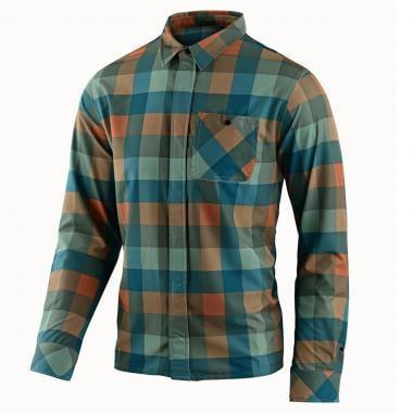 Camisa TROY LEE DESIGNS GRIND FLANNEL Verde/Laranja 2019