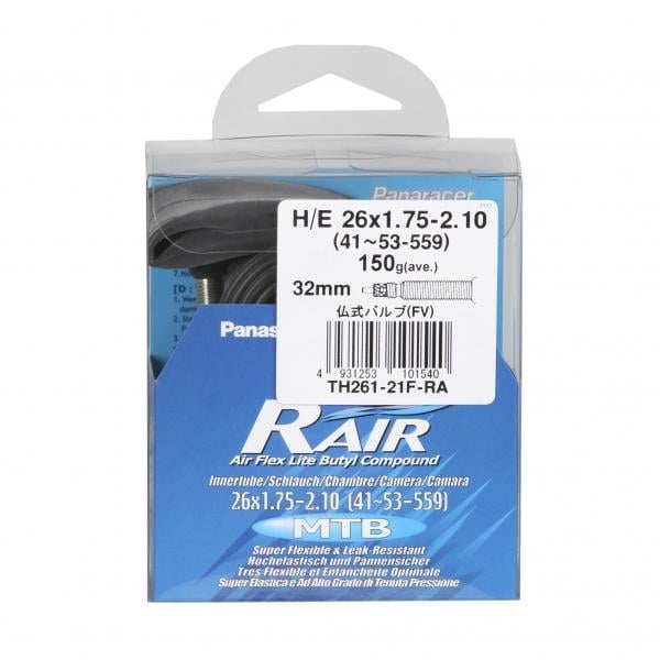 panaracer r 39 air inner tube butyl presta 32 mm