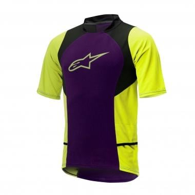 ALPINESTARS DROP 2 Short-Sleeved Jersey Purple/Yellow