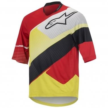 Maillot ALPINESTARS DEPTH Manches 3/4 Rouge/Blanc/Jaune 2016