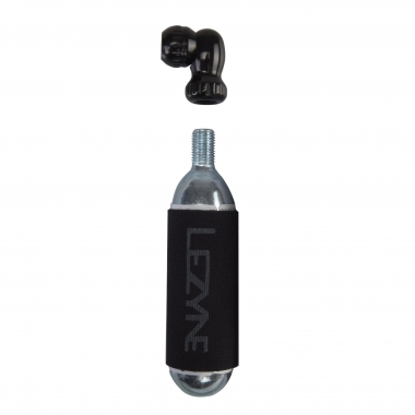 Pompa CO2 LEZYNE TWIN SPEED DRIVE + Cartuccia CO2 Filettata 25 g (x1)