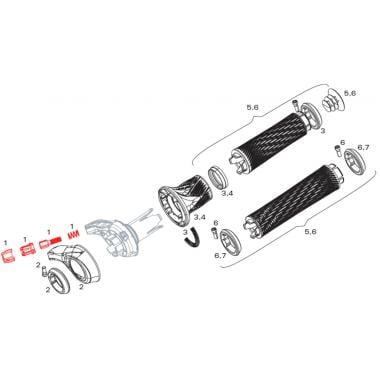 Barillet de Réglage de Tension pour Commande de Vitesses SRAM GRIP SHIFT XX1 / X0 #11.7018.006.001