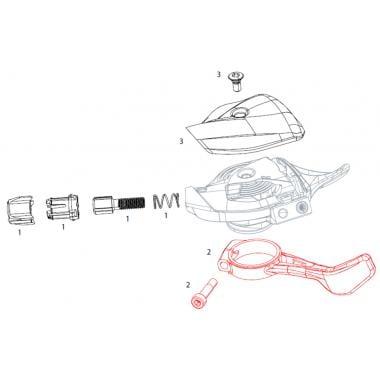 Kit Levier de Remplacement Noir pour Commande de Vitesse Droite SRAM EAGLE X01 #11.7018.059.000